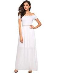 b55db8bbce5 LM moda A Bílé šaty romantické letní i společenské