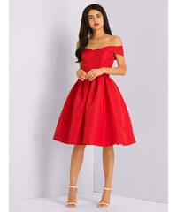 CHI CHI LONDON Koktejlové šaty Sarah červené 42 cafb5dfcbf2