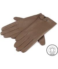 Cixi Dámské kožené rukavice hnědé L d17a6cf8bbf