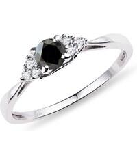 Eppi Zlatý prsten s černým diamantem a bílými diamanty Rill - Glami.cz d26a214965a