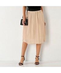 18687ee56e3 Blancheporte Plisovaná sukně s pružným pasem růžová