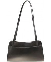 Kožená čierna kabelka cez rameno Lesly VERA PELLE 52ecb79ff81