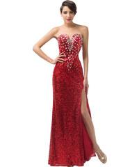 Červené společenské šaty s flitry - Glami.cz 40ce193ea4c