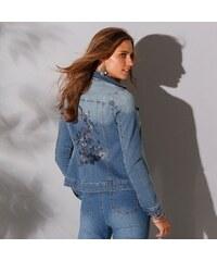 36a57cb0dc6f Blancheporte Džínsová bunda s výšivkou zapr.modrá