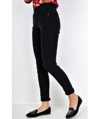 b79086dedf6 BASIC Černé kalhoty s širokými nohavicemi - 2935 - Glami.cz