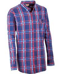 22fe4e95c0a Nadměrná pánská košile 100 % bavlna modročervená Tonelli 110906