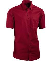 Červená pánská košile slim fit s krátkým rukávem Aramgad 40334 359bba0e53