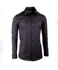 Černá elegantní košile vypasovaná slim fit Aramgad 30139 0398fc557f