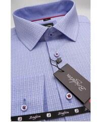 23d7923512a Modrá pánská košile dlouhý rukáv s podšitým límcem Brighton 109991