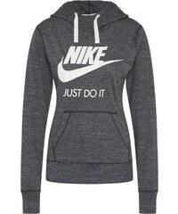 72ae556339e Nike Sportswear Mikina  Gym Hoodie  tmavě šedá   bílá