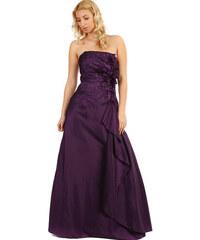 a1eaf1f13c3 Glara Dlouhé plesové fialové šaty s flitry