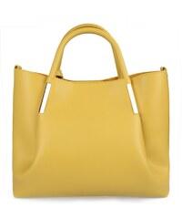 BHPC Žltá kabelka z eko kože Beverly Hills Polo Club Frederica af6f8c75033