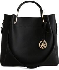 BHPC Čierna kabelka z eko kože Beverly Hills Polo Club Amy 374a22c05ac