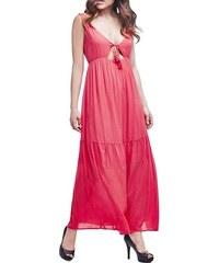 Guess dámské růžové maxi šaty f41c41baef3