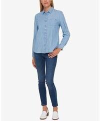 Košile Tommy Hilfiger Cotton Chambay Utility Shirt modrá skladem 602106a47a