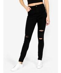 5ff74b70fb3 Černé skinny džíny s vysokým pasem MISSGUIDED