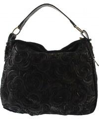 Kožená čierna kabelka cez rameno tinian VERA PELLE - Glami.sk 061b2f8c41d