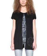 tričko Desigual Sof negro - Glami.sk a9b0b39ff0d