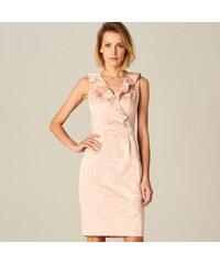 0fa190e4ef1 Mohito - Pouzdrové šaty ze žakárové tkaniny - Růžová