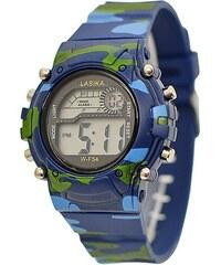 Dětské hodinky LASIKA army modré 8b3c7de839