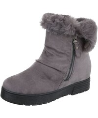 bd3176952 Dámske vysoké zimné topánky s kožušinou