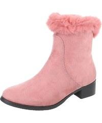 31cf747252 Dámske vysoké zimné topánky s kožušinou