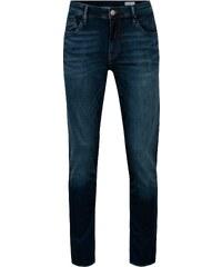 Tmavě modré pánské regular fit džíny s vyšisovaným efektem Cross Jeans Jimi 7c288877d3