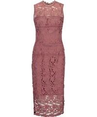 d93f70765eb1 Ružové čipkované šaty bez rukávov Little Mistress