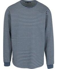 45e7370c73bd Modro-biele pánske pruhované tričko Makia Yacht
