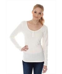 Biele Dámske tričká s čipkou s dlhým rukávom - Glami.sk d787e10510f