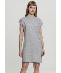 3bed564ba697 Dámske šaty URBAN CLASSICS Ladies Turtle Extended Shoulder Dress grey