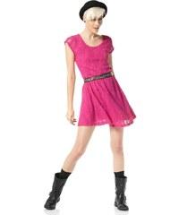Krajkové šaty Material Girl 36 pink