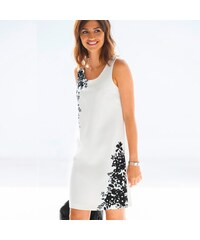 Blancheporte Rovné šaty s výšivkou slonová kost černá aeb786ea56