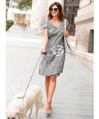 Blancheporte Originální šaty s krátkými rukávy perleťově šedá d20ede6385