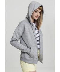 Dámska mikina na zips URBAN CLASSICS Ladies Classic Zip Hoody grey 5d8c3d98b1f
