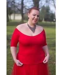 Dámská halenka Amanda Bellazu s hlubokým výstřihem červená a42afee917