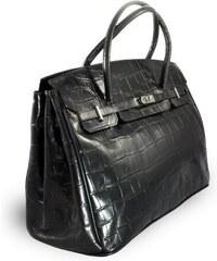 Arwel Černá kožená dámská kabelka s motivem krokodýlí kůže Vandeli 396fc0ccf9