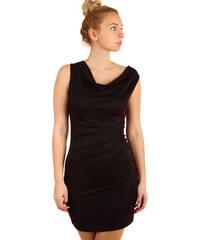 6803dff335a TopMode Třpytivé šaty s volným výstřihem (vínová