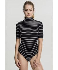 5bca45fee45b Dámske body URBAN CLASSICS Ladies Striped Turtleneck Body čierna biela