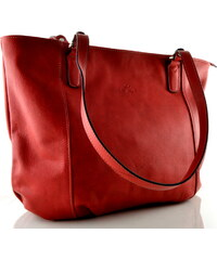 Velká kožená kabelka Katana - červená 04b21bb111a