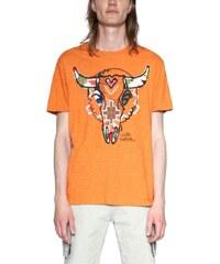 tričko Desigual Berto apricot orange b007b4ba990