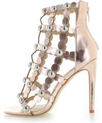 5d1f06a756f Sergio Todzi Růžovo-zlaté sandály Mariel
