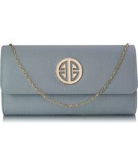 63132b5b3f L S Fashion Psaníčko Grey Large Flap Clutch purse - šedé LSE0026A - Grey