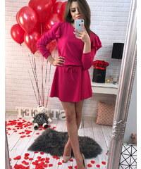 BASIC Dámské růžové šaty (ey0220) 97978364de