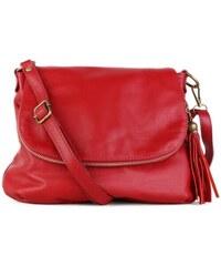 TALIANSKE Talianska stredná kožené kabelky crossbody červené Angela 9218e921ef4
