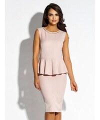 Růžové šaty s volány - Glami.cz 570ea51da8