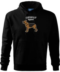 7e45b2b3d99 Myshirt.cz Německý ovčák - hnědý s nápisem - Mikina s kapucí hooded sweater