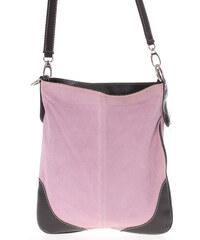 Dámska kožená crossbody kabelka svetlo ružová - ItalY 10062 ružová d73d65072e2