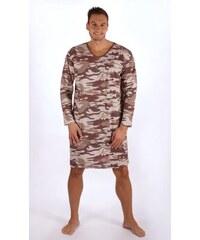 b9f055022c4e Gazzaz Pánska nočná košeľa s dlhým rukávom Army