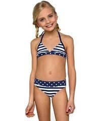 b87e02d8339 LORIN Dívčí plavky Siena modrobílá